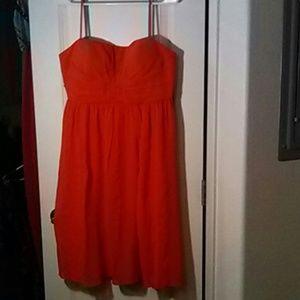 Dress, corral color, 123 Un Deux Trois